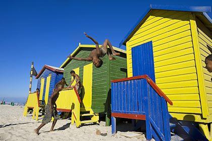 Cabines de plage de Muizenberg - Province du Cap-Occidental - Afrique du Sud - Patrick Frilet / hemis.fr
