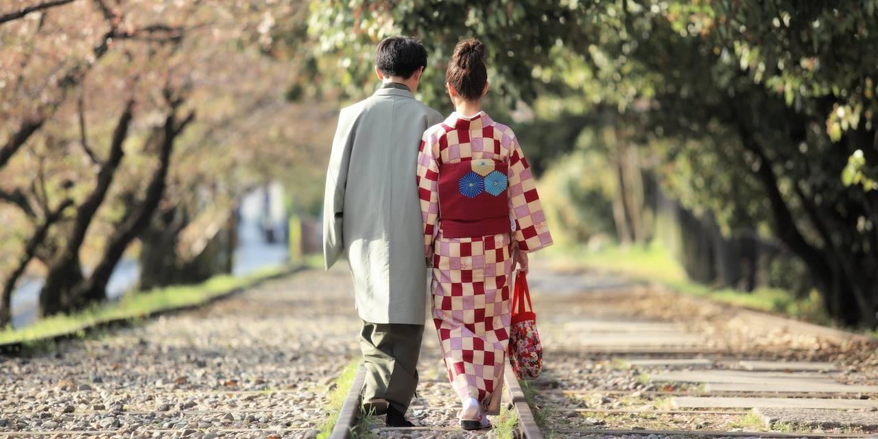 Couple à Kyoto - Île de Honshu - Japon
