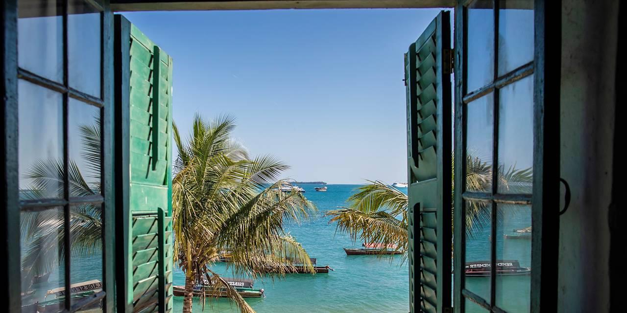 Vue sur l'Océan Indien - Stone Town - Zanzibar Vieille Ville - Tanzanie