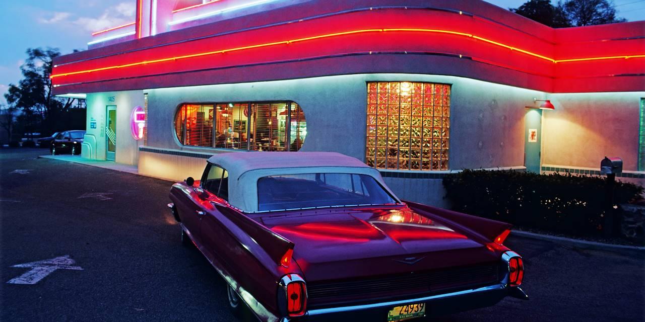 Diner sur la route 66 - Albuquerque - Nouveau-Mexique - États-Unis