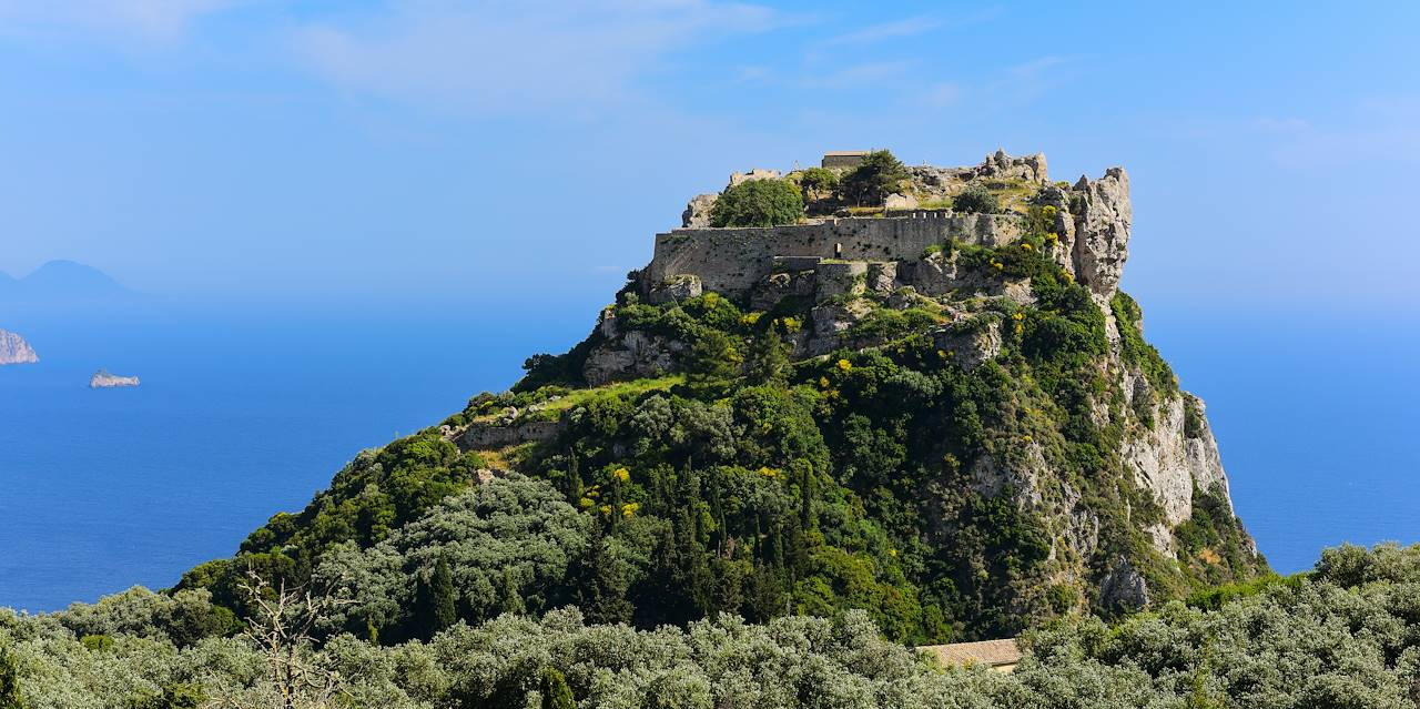 Forteresse bysantine d'Angelokastro - Île de Corfou - Grèce
