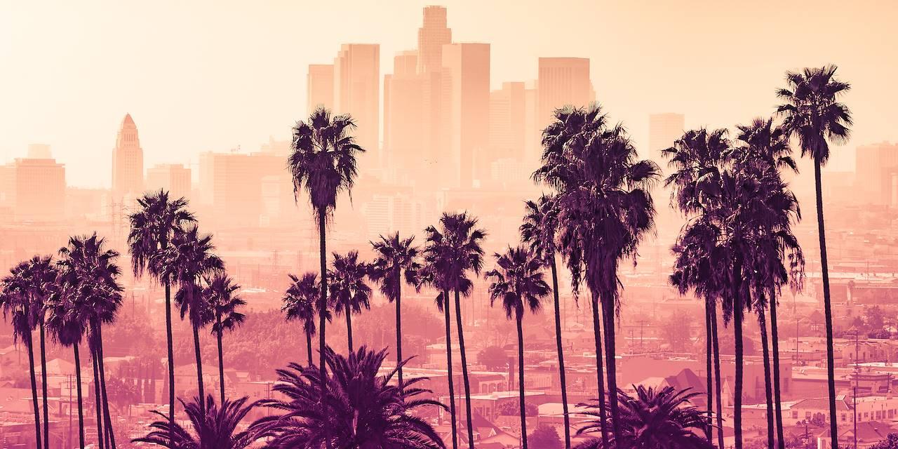 Coucher de soleil sur Los Angeles - Los Angeles - Californie - Etats-Unis