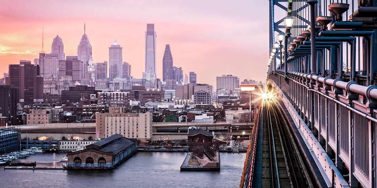 Coucher de soleil à Philadelphie - Pennsylvanie - Etats Unis