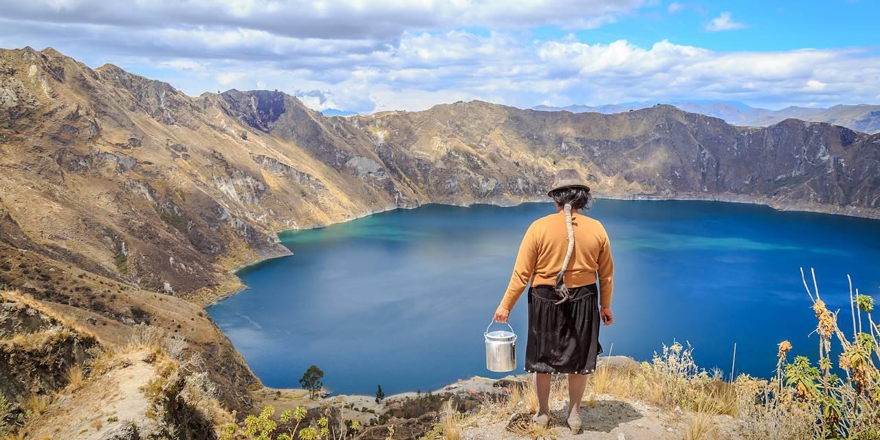 La lagune de Quilotoa - Province de Cotopaxi - Equateur