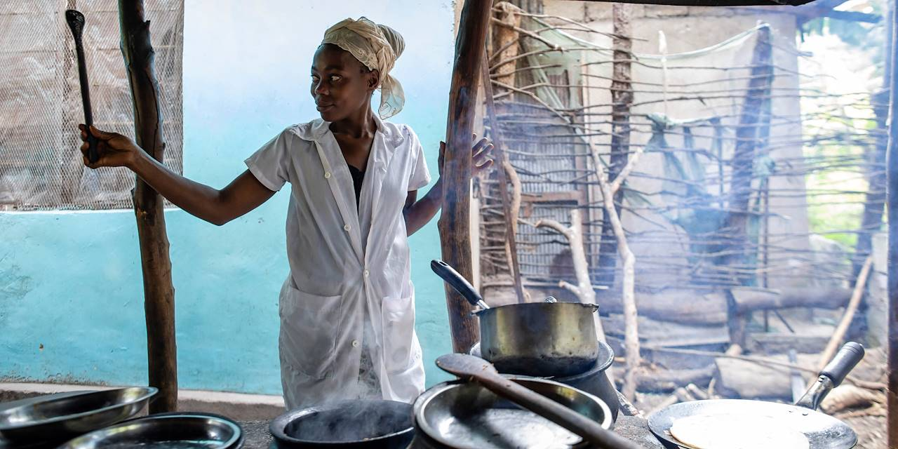 Déjeuner dans le village de Mto Wa Mbu - Mto Wa Mbu - Nord - Tanzanie