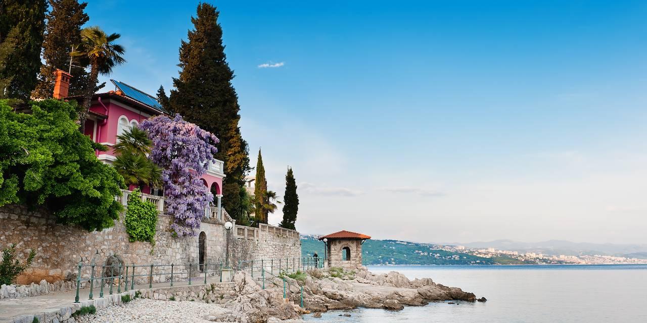 Vue de la mer Adriatique - Opatija - Croatie