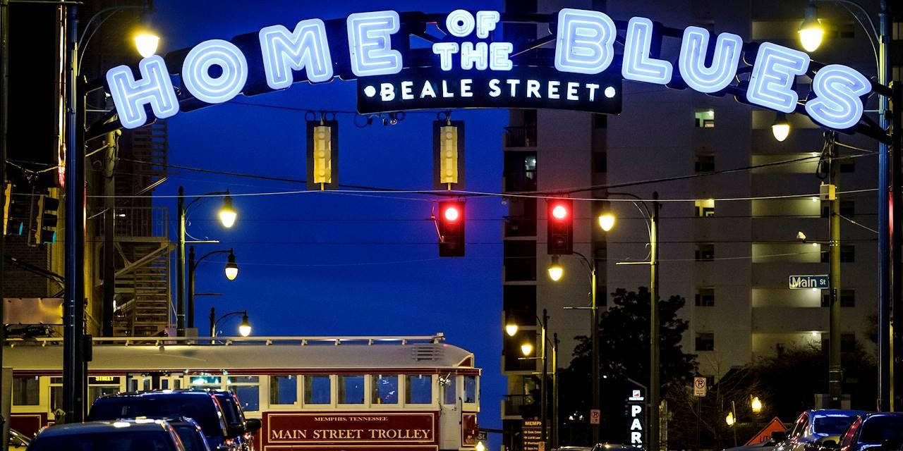Beale Street, la légendaire rue du Blues - Memphis - Tennessee - Etats Unis