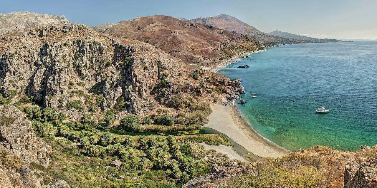 Plage de Preveli - Province de Rethymnon - Crète - Grèce