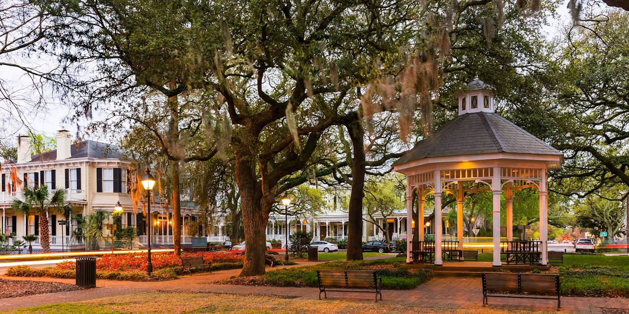 Quartier historique de Savannah - Géorgie - Etats-Unis