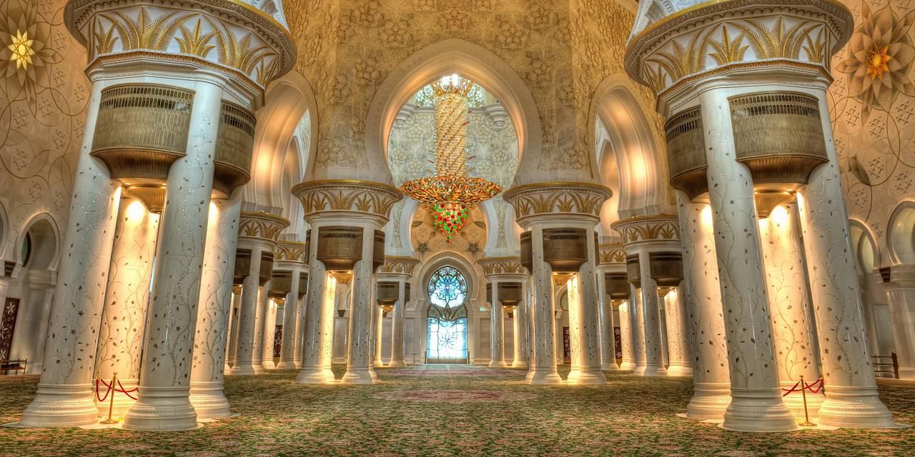 Salle de prière de la mosquée Sheikh Zayed - Abu Dhabi - Emirats Arabes Unis