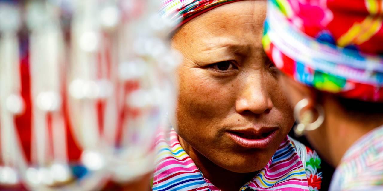 Femme Dzao rouge - District de Sapa - Province de Lào Cai - Vietnam