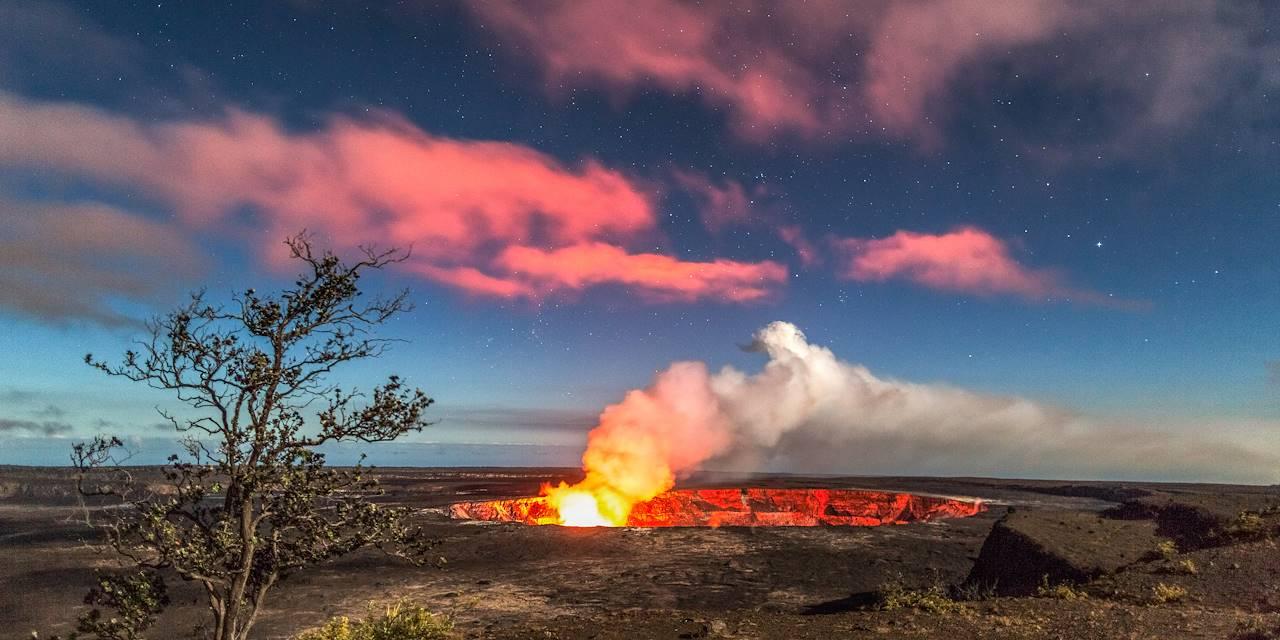Cratère du volcan Kilauea - Ile d'Hawaï - Etats-Unis