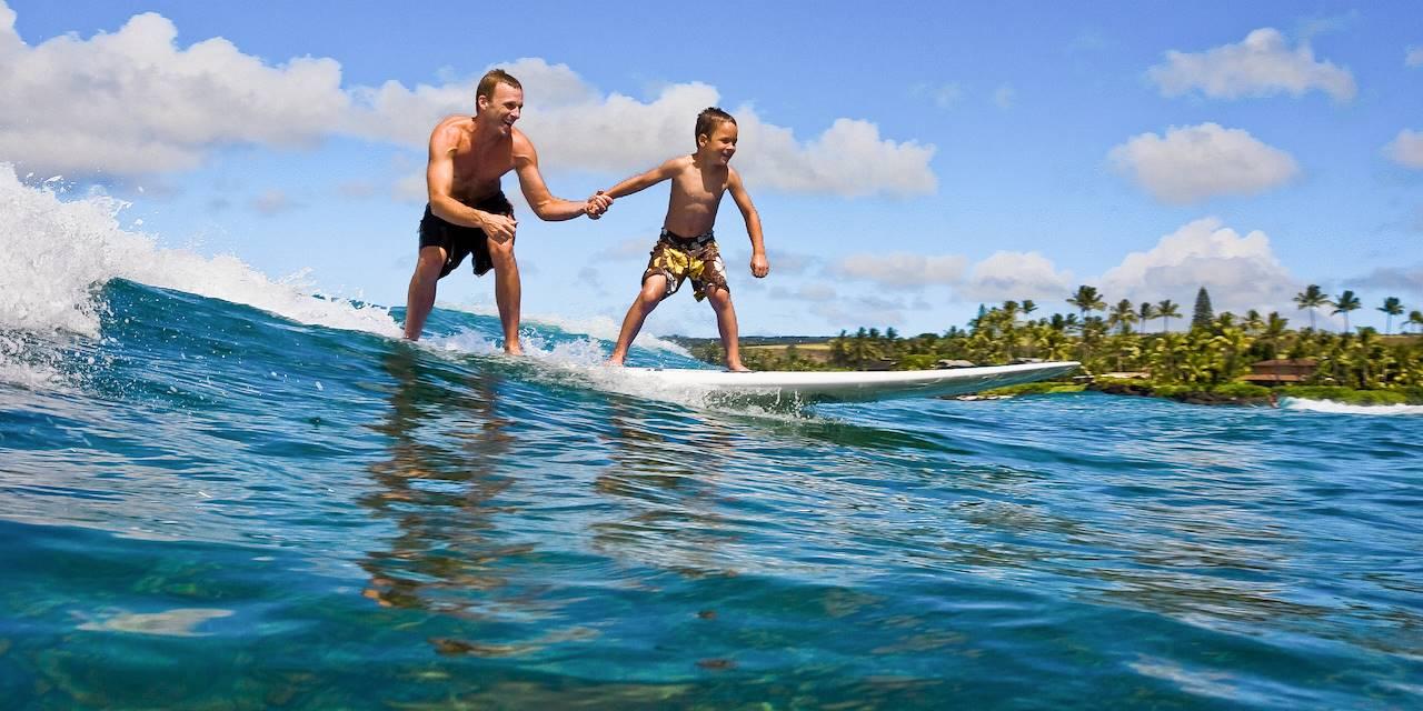 Surf en famille à Hawai