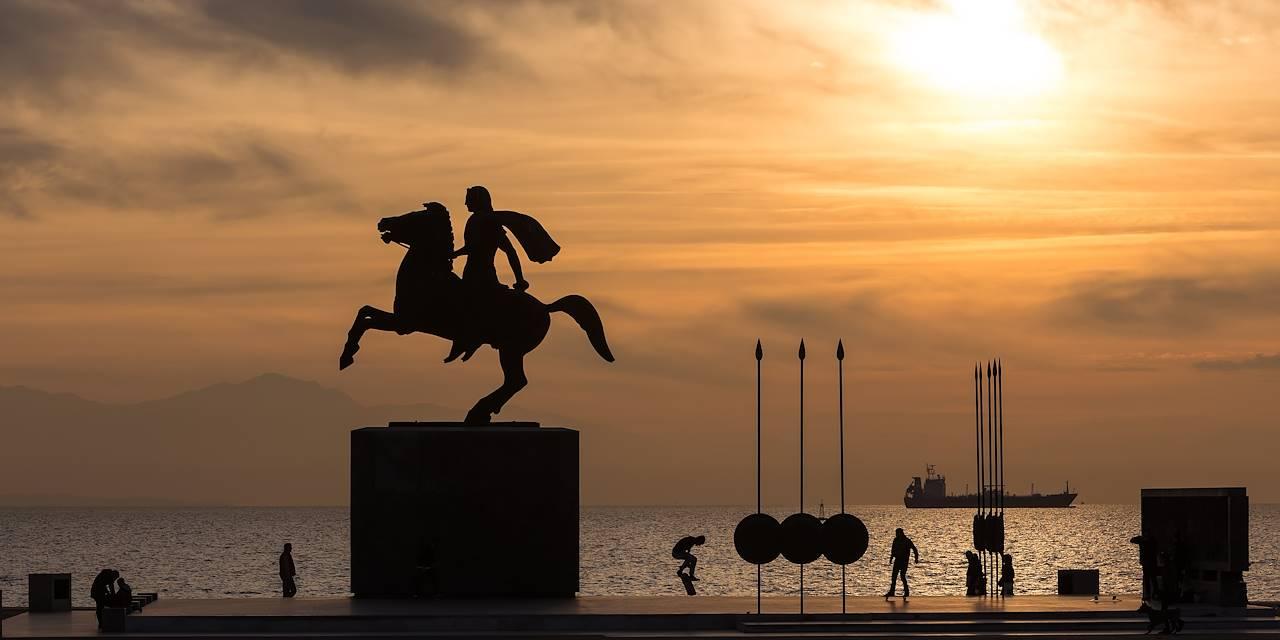 Statue d'Alexandre le Grand à Thessalonique - Grèce