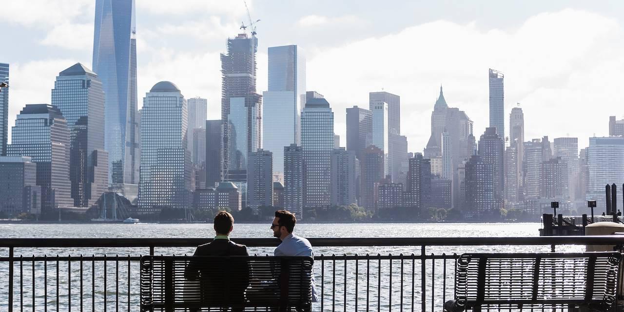 Vue sur Manhattan depuis le New Jersey - New York - Etats-Unis