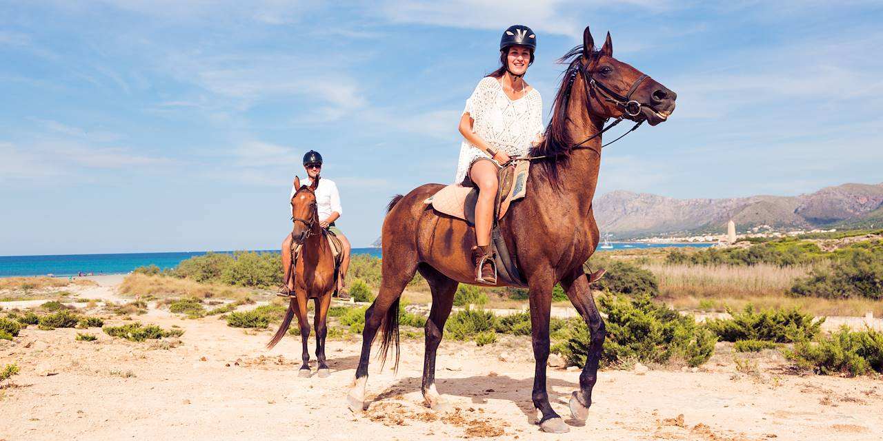 A cheval - Ile de Minorque - Les Baléares