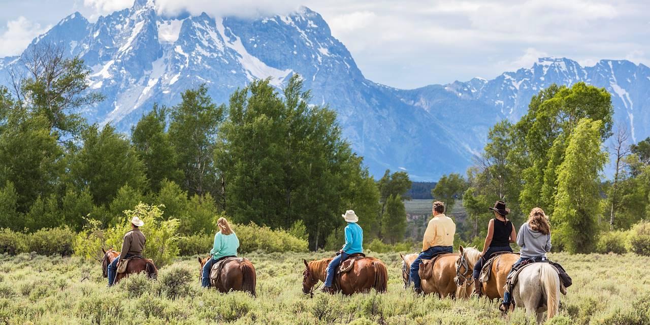 Balade à cheval dans le Grand Teton National Park - Wyoming - Etats Unis