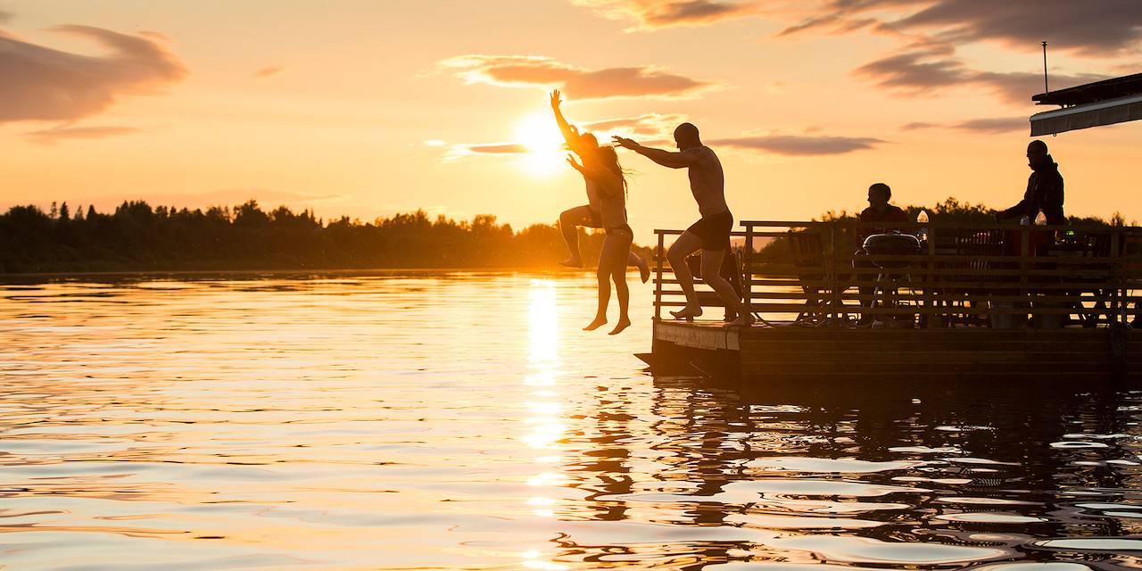 Le Soleil de Minuit à Rovaniemi - Finlande