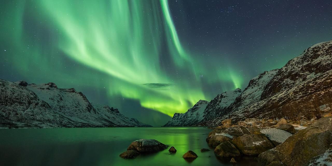 Aurore boréale dans la région de Tromsø - Norvège