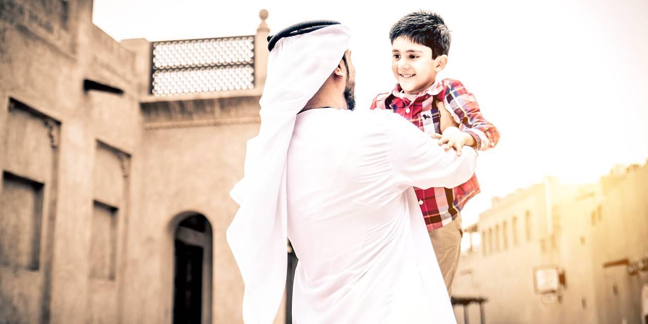 Famille dans la vielle ville de Dubai - Emirats Arabe Unis