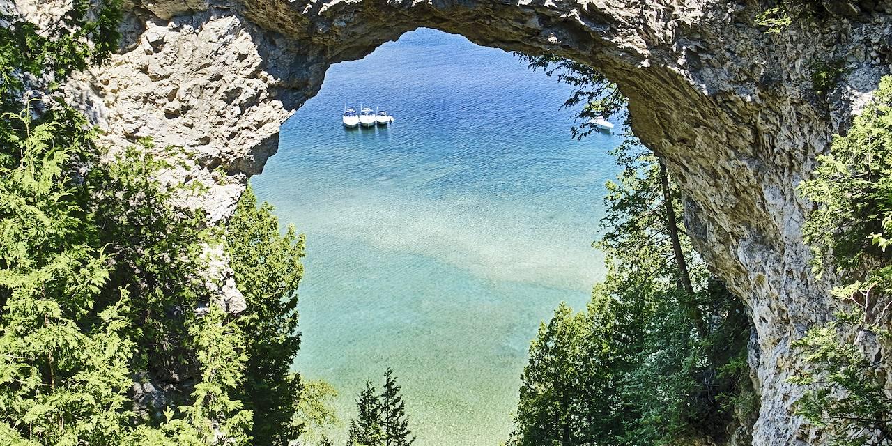 Arch Rock sur l'île Mackinac - Michigan - Etats-Unis