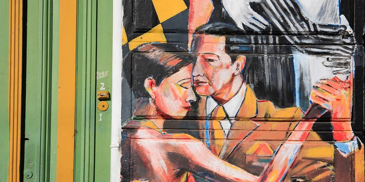 Danseurs de tango sur les murs de Buenos Aires - Argentine