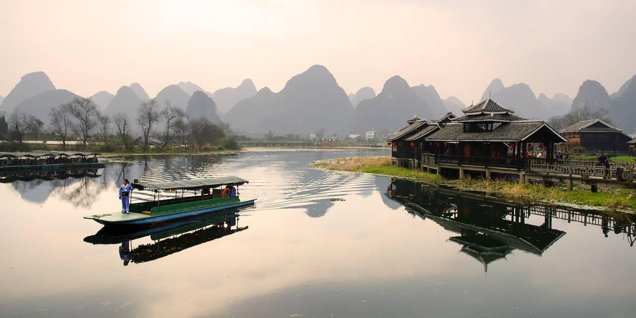 Paysage de Yangshuo - Région de Guilin - Chine
