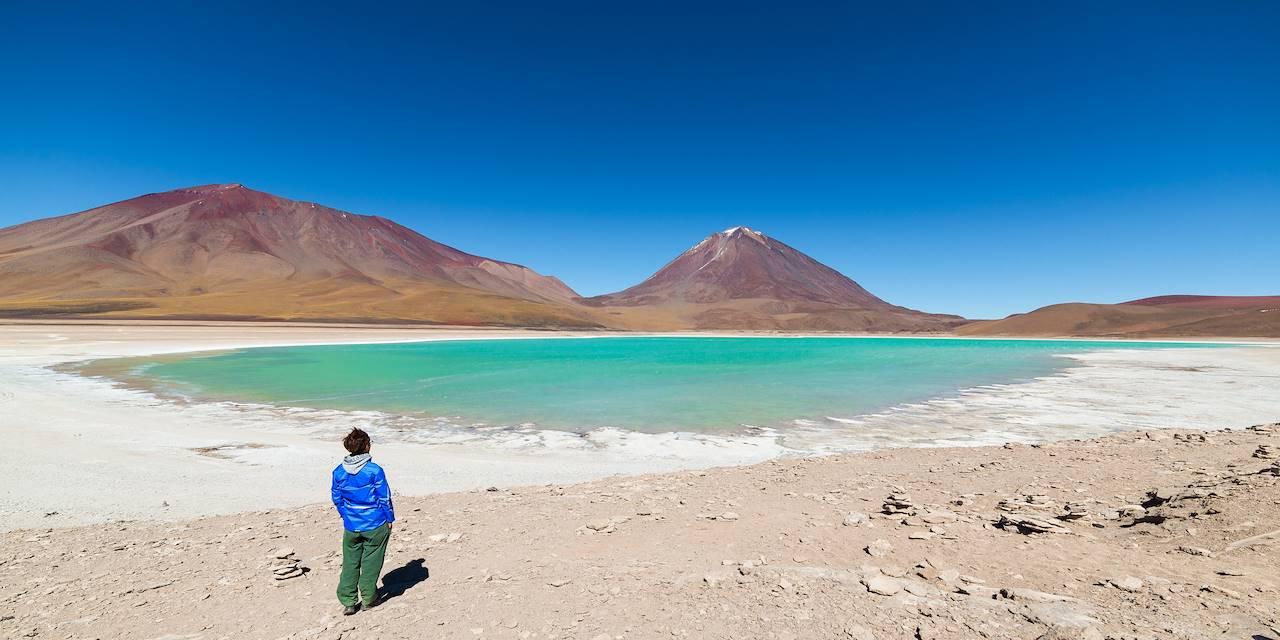 Le volcan Licancabur et la laguna Verde - Sud Lipez - Potosi - Bolivie