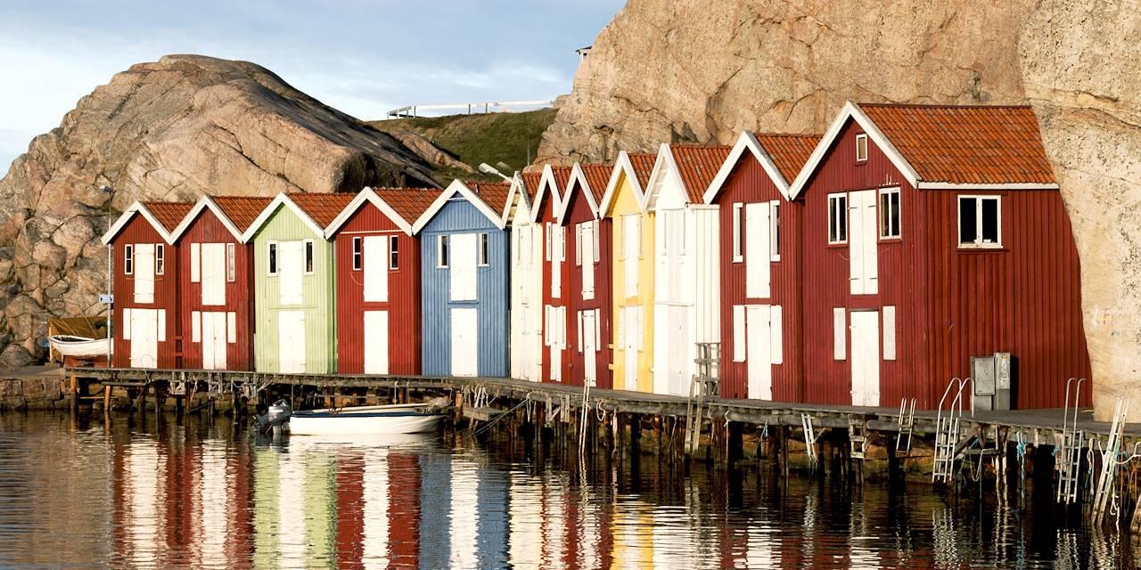 Cabanes de pêcheurs près de Smögen - Comté de Västra Götaland - Suède