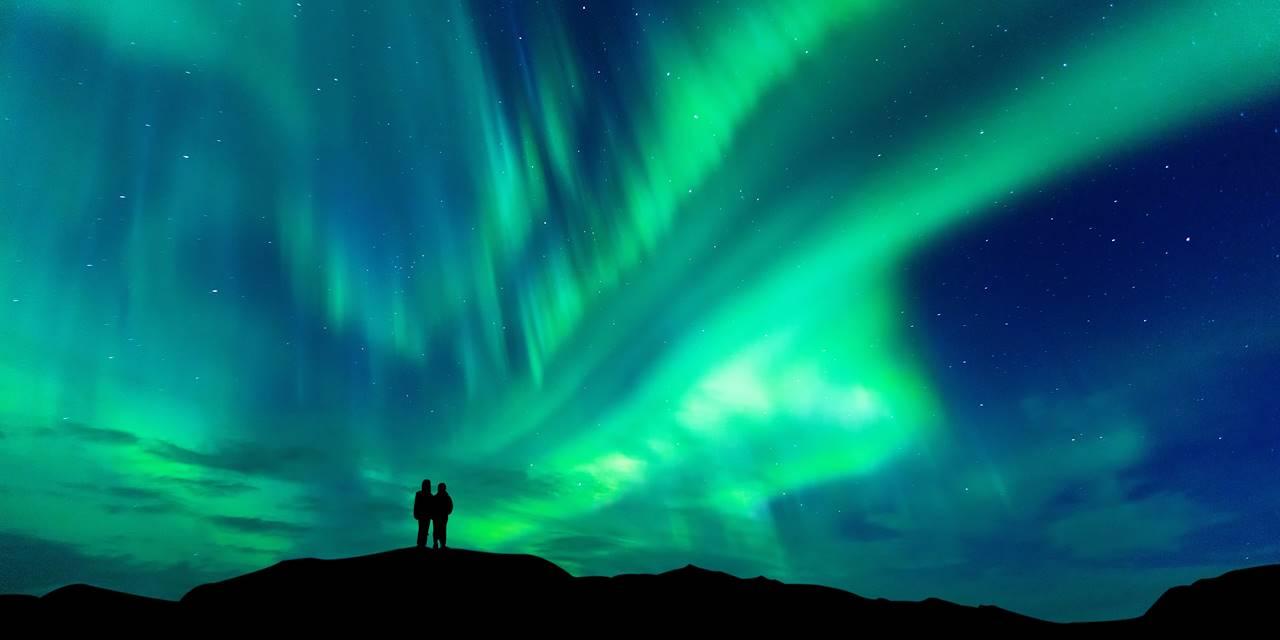 Aurores boréales en Laponie - Finlande