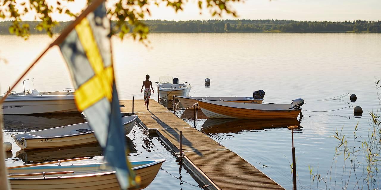 Baignade dans un lac - Suède