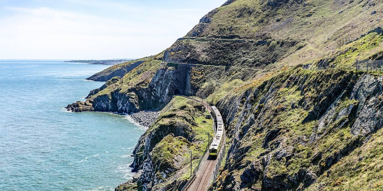 Train entre Bray et Greystones - Comté de Wicklow - Irlande