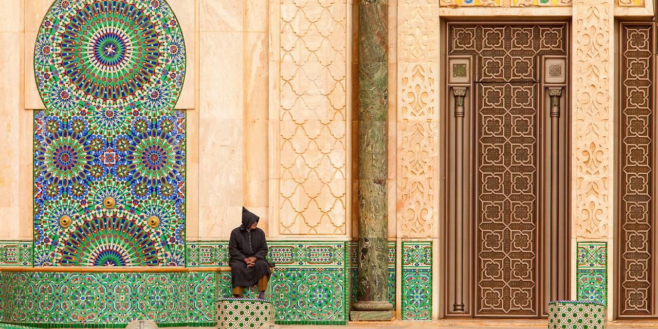 Devant la Moquée Hassan 2 de Casablanca - Maroc