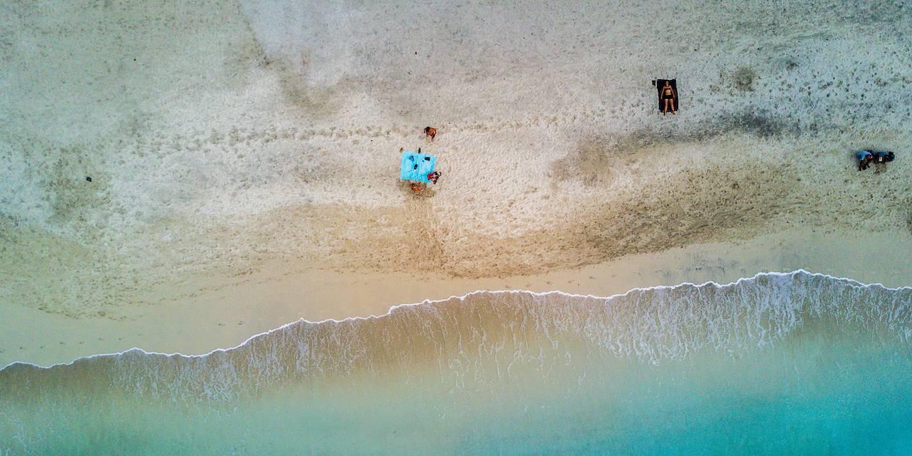 Vue aérienne de la plage de Mindelo - Mindelo - Île de Sao Vicente - Cap Vert