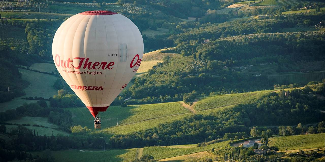 Vol en montgolfière au dessus de la Toscane - Italie