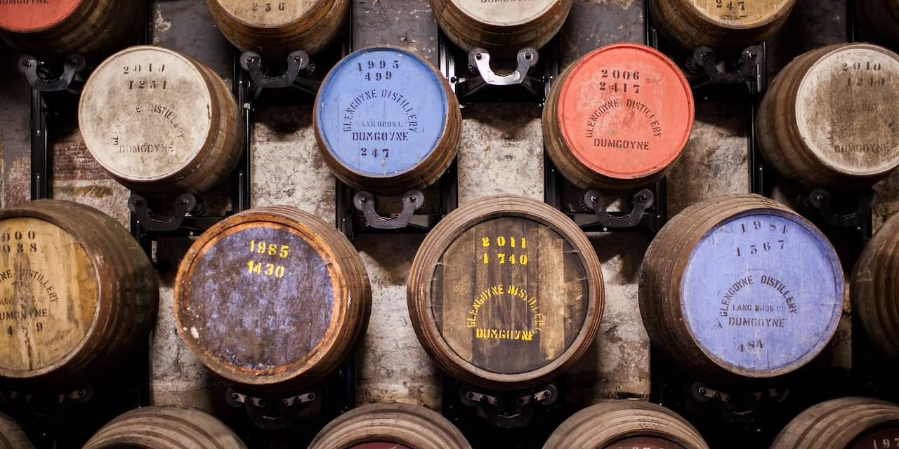 Fabrication de whisky à la distillerie Glengoyne - Dumgoyne - Ecosse